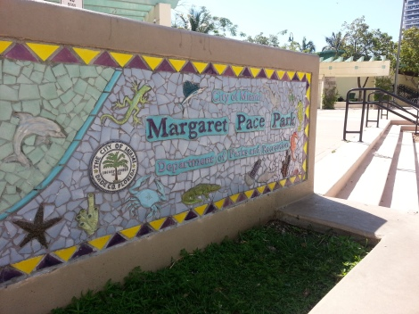 Margaret Pace Park Sign