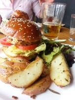 Black Bean Burger at Venice Ale House