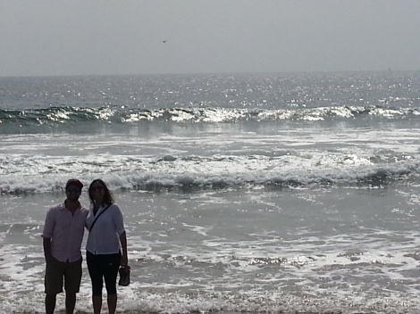My brother and I with the Pacific behind us