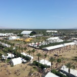 View of the food area and other concert tents