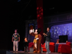 After the group discussion Mickey came out and they all sang the Mickey song